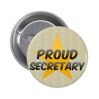 Proud Secretary 2 Inch Round Button