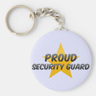 Proud Security Guard Basic Round Button Keychain