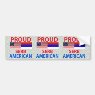 Proud Serb American Bumper Sticker