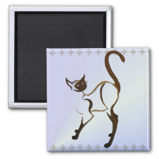 Proud Siamese Cat Magnet