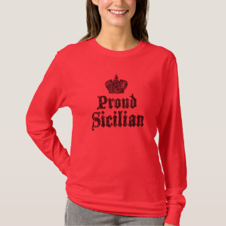 Proud Sicilian Womens Long Sleeve Shirt