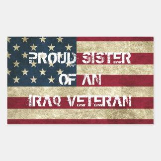 Proud Sister of an Iraq Veteran Sticker
