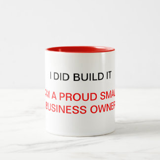 Proud small business owner mug