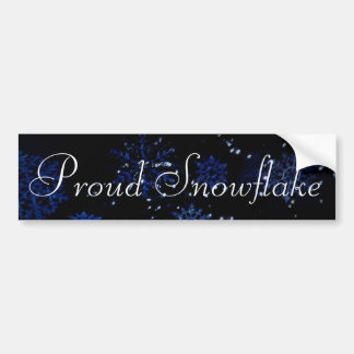 Proud Snowflake Bumper Sticker