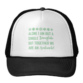 PROUD SNOWFLAKE TRUCKER HAT