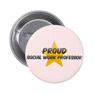 Proud Social Work Professor 2 Inch Round Button