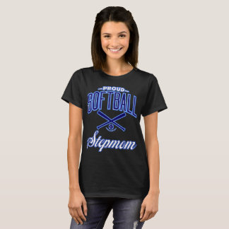 Proud Softball Stepmom T-Shirt (U.S.A.)