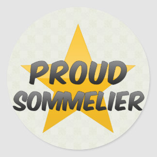 Proud Sommelier Classic Round Sticker