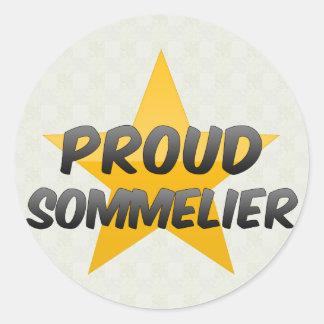 Proud Sommelier Round Sticker