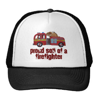 proud son of a firefighter hat