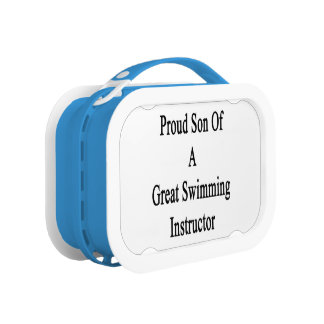 Proud Son Of A Great Swimming Instructor Lunchboxes