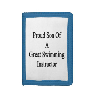 Proud Son Of A Great Swimming Instructor Trifold Wallet