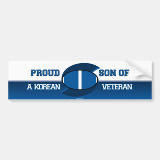 Proud Son of a Korean Veteran Bumper Sticker