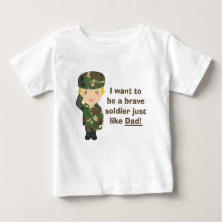Proud son of an Army or Military Dad Baby T-Shirt