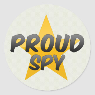 Proud Spy Classic Round Sticker