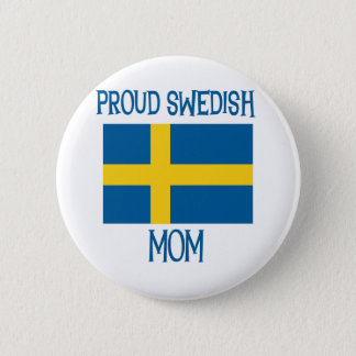 Proud Swedish Mom 2 Inch Round Button