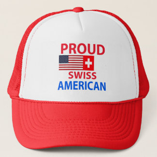 Proud Swiss American Trucker Hat