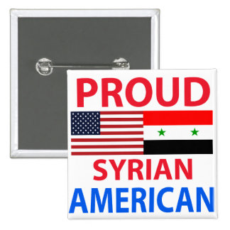 Proud Syrian American 2 Inch Square Button