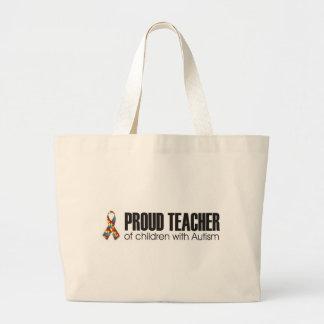 proud teacher of children with autism bag
