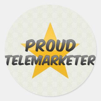 Proud Telemarketer Classic Round Sticker