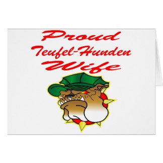Proud Teufel-Hunden Wife Greeting Card