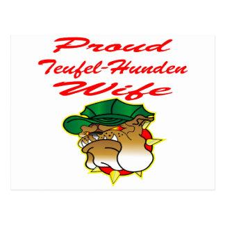 Proud Teufel-Hunden Wife Postcard