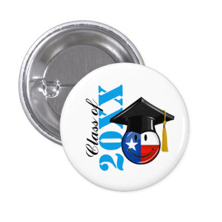 Proud Texas Graduate Smiling Flag 1 Inch Round Button