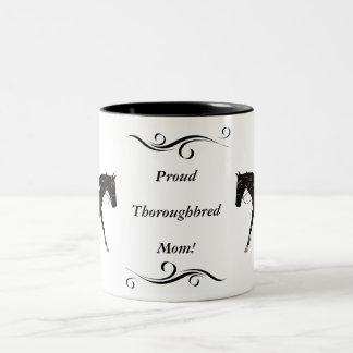 Proud Thoroughbred Mom Mug