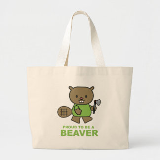 Proud To Be A Beaver Large Tote Bag