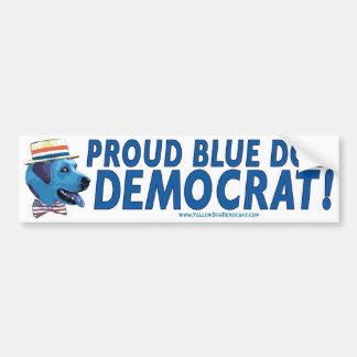 Proud To Be A Blue Dog Democrat Bumper Sticker