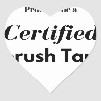 Proud to be a Certified Airbrush Tanner Heart Sticker