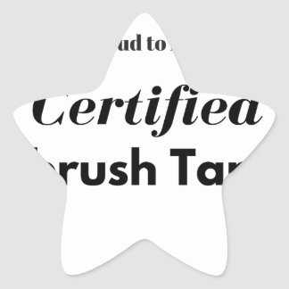 Proud to be a Certified Airbrush Tanner Star Sticker