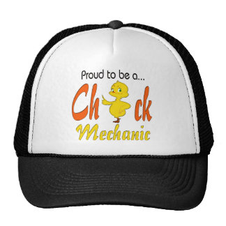 Proud to be a Chick Mechanic Auto Mechanic Gifts Mesh Hat