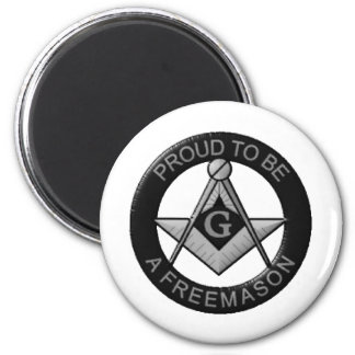 Proud To Be A Freemason 2 Inch Round Magnet