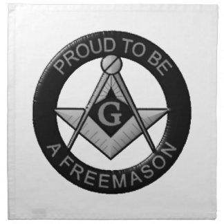 Proud To Be A Freemason Napkin
