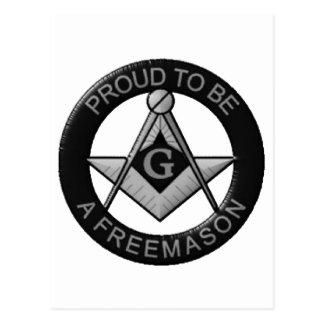 Proud To Be A Freemason Postcard