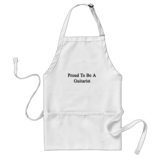 Proud To Be A Guitarist Standard Apron