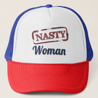 Proud to be a Nasty Woman Blue & Red Trucker Hat