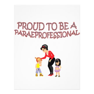 PROUD TO BE A PARAPROFESSIONAL CUSTOM LETTERHEAD