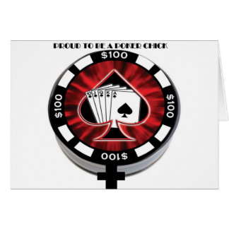 PROUD TO BE A POKER CHICK CARD