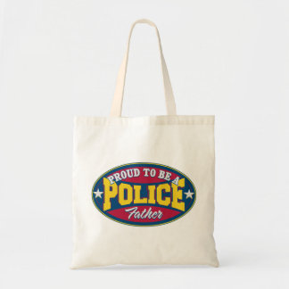 Proud to be a Police Father Budget Tote Bag