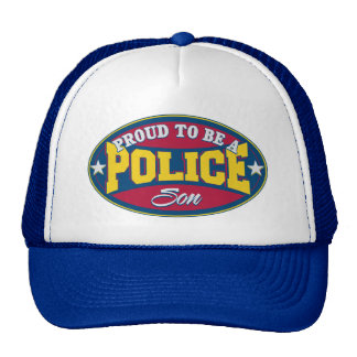 Proud to be a Police Son Trucker Hat