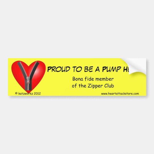 Proud to be a Pump Head Bumper Sticker