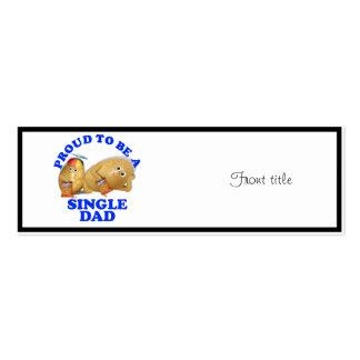 Proud to be a Single Dad - Father & Son Potatoes Pack Of Skinny Business Cards