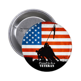 Proud to be a Veteran Pinback Button