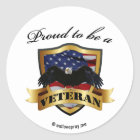 Proud to be a Veteran Classic Round Sticker