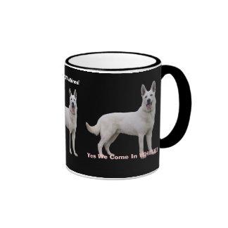 Proud To Be a White German Shepherd! Ringer Mug