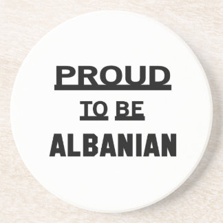 Proud to be Albanian. Beverage Coaster