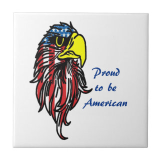Proud to be America Eagle Ceramic Tile