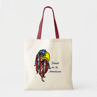 Proud to be American Bald Eagle Tote Bag